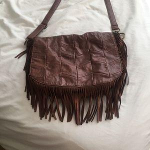 "Free People vegan ""leather"" fringe purse"